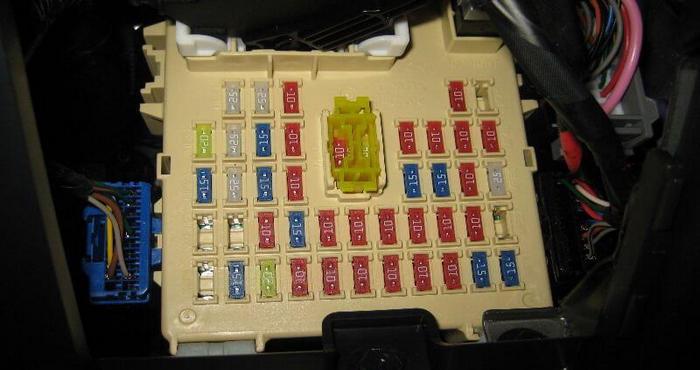 блок с цветными предохранителями