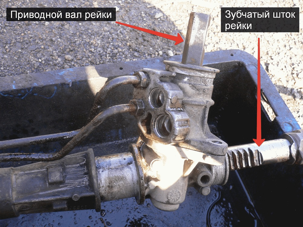Демонтаж и подтяжка рулевой рейки