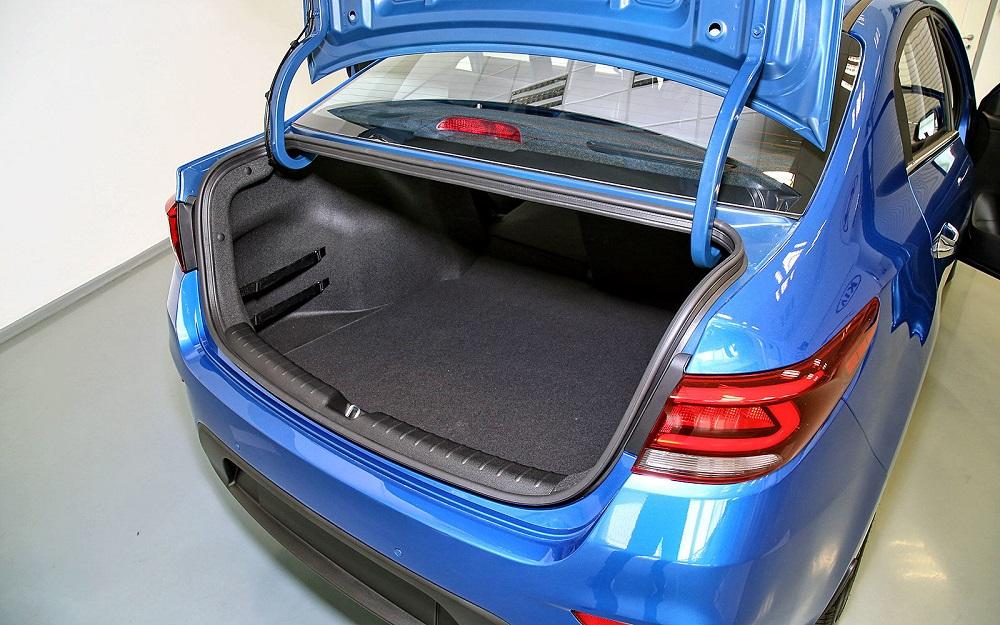 Объем и размеры багажника разных моделей «Киа Рио»