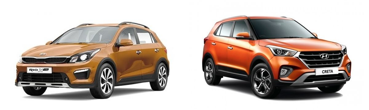 Hyundai Creta vs Kia Rio x-line
