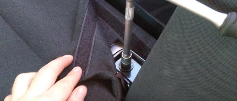 как снять заднее сиденье на киа рио