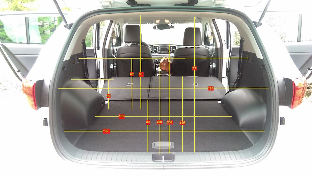 Подсчеты объема багажника Kia Sportage 3