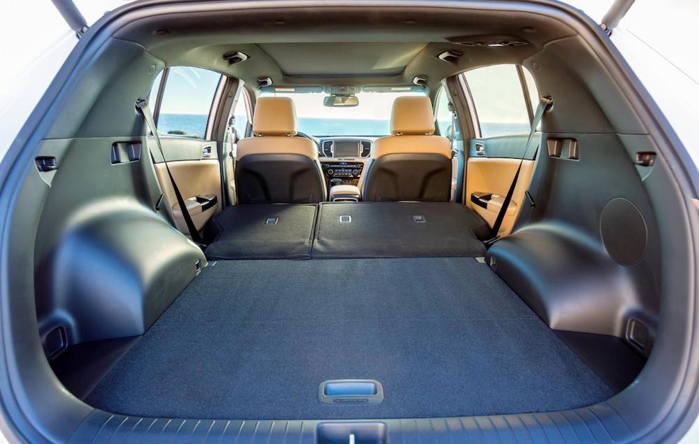 Вместительность багажника Kia Sportage 3